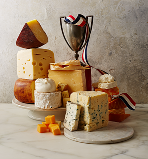 U.S. Cheeses with a trophy