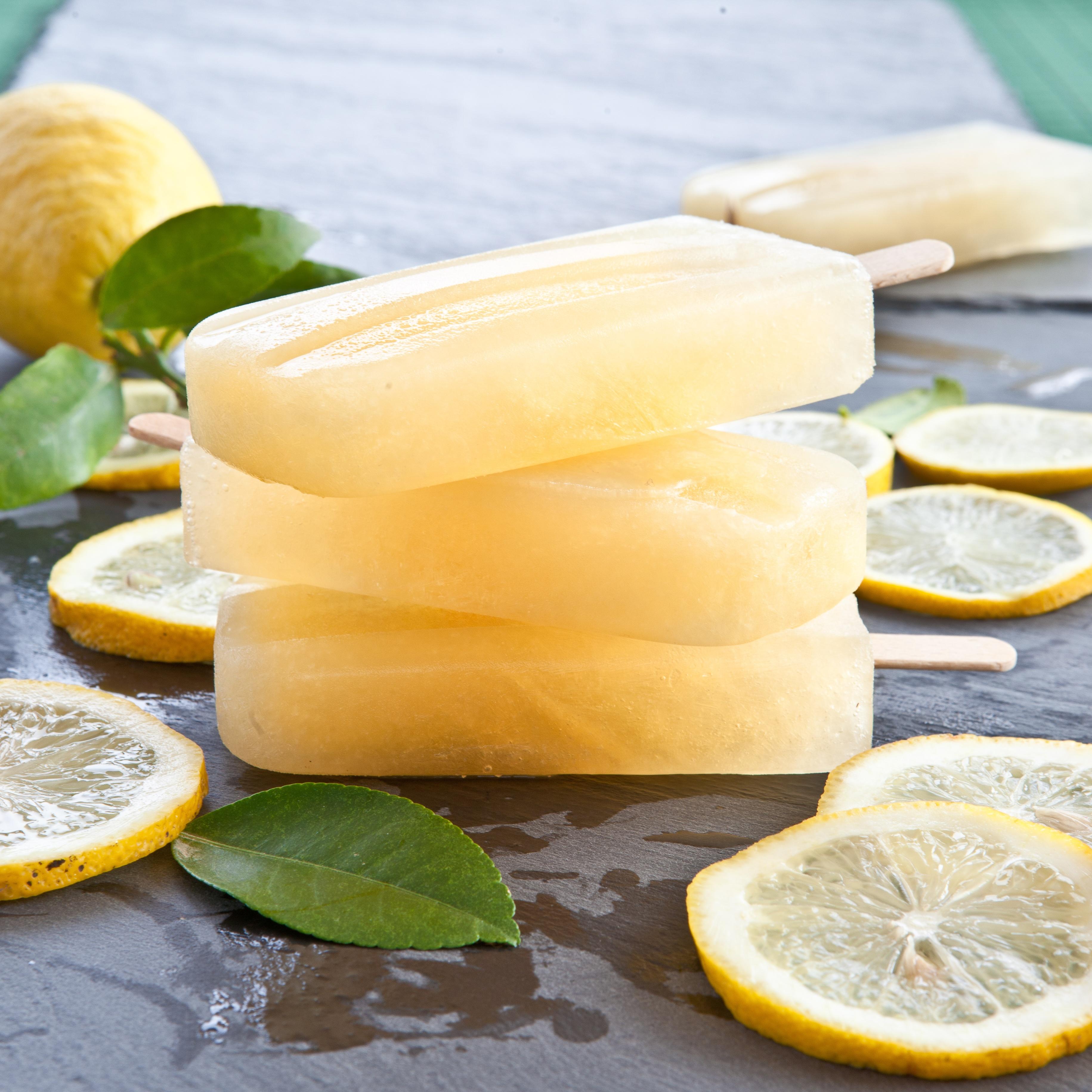 Lemon Ginger Ice Pops